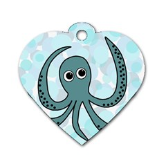 Octopus Dog Tag Heart (Two Sides)
