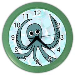 Octopus Color Wall Clocks