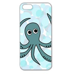 Octopus Apple Seamless iPhone 5 Case (Clear)