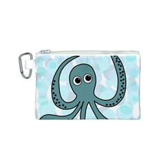 Octopus Canvas Cosmetic Bag (S)