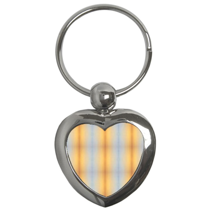 Blue Yellow Summer Pattern Key Chains (Heart)
