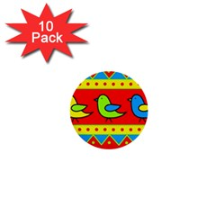 Birds pattern 1  Mini Buttons (10 pack)
