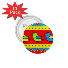 Birds pattern 1.75  Buttons (10 pack)