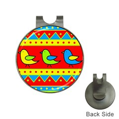 Birds pattern Hat Clips with Golf Markers