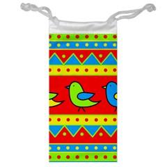 Birds pattern Jewelry Bags