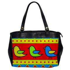 Birds pattern Office Handbags