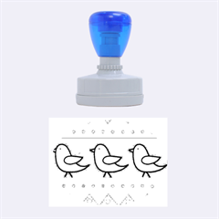 Birds pattern Rubber Oval Stamps