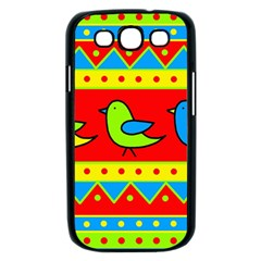 Birds pattern Samsung Galaxy S III Case (Black)