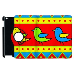 Birds pattern Apple iPad 2 Flip 360 Case