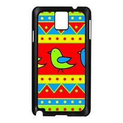 Birds pattern Samsung Galaxy Note 3 N9005 Case (Black)