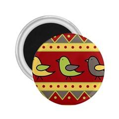 Brown bird pattern 2.25  Magnets
