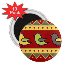 Brown bird pattern 2.25  Magnets (10 pack)