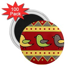 Brown bird pattern 2.25  Magnets (100 pack)