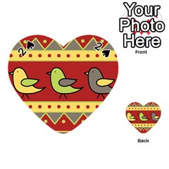 Brown bird pattern Playing Cards 54 (Heart)
