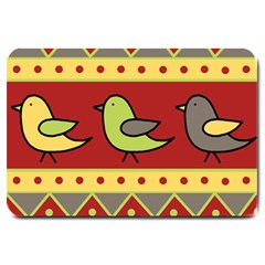 Brown bird pattern Large Doormat