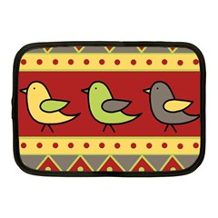 Brown bird pattern Netbook Case (Medium)