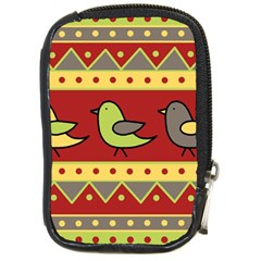 Brown bird pattern Compact Camera Cases