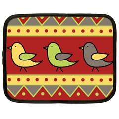 Brown bird pattern Netbook Case (XXL)