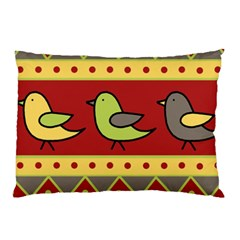Brown bird pattern Pillow Case (Two Sides)
