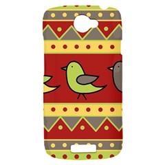 Brown bird pattern HTC One S Hardshell Case