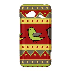 Brown bird pattern HTC Droid Incredible 4G LTE Hardshell Case