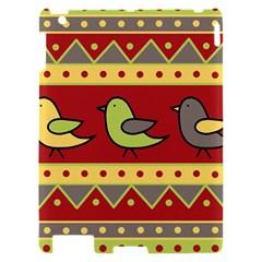 Brown bird pattern Apple iPad 2 Hardshell Case