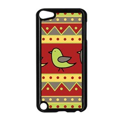 Brown bird pattern Apple iPod Touch 5 Case (Black)