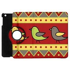 Brown bird pattern Apple iPad Mini Flip 360 Case