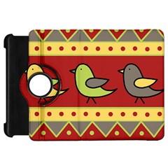 Brown bird pattern Kindle Fire HD Flip 360 Case