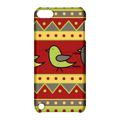 Brown bird pattern Apple iPod Touch 5 Hardshell Case with Stand