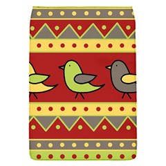 Brown bird pattern Flap Covers (S)