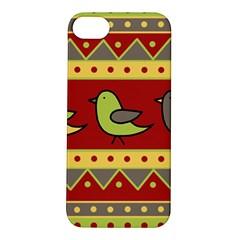 Brown bird pattern Apple iPhone 5S/ SE Hardshell Case