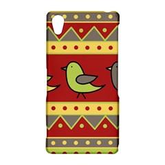 Brown bird pattern Sony Xperia Z2
