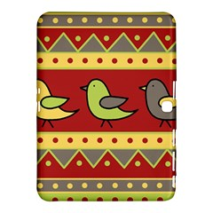 Brown bird pattern Samsung Galaxy Tab 4 (10.1 ) Hardshell Case