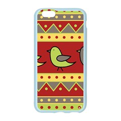 Brown bird pattern Apple Seamless iPhone 6/6S Case (Color)