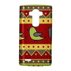 Brown bird pattern LG G4 Hardshell Case