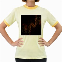 Multicolor Fractals Digital Art Design Women s Fitted Ringer T-Shirts