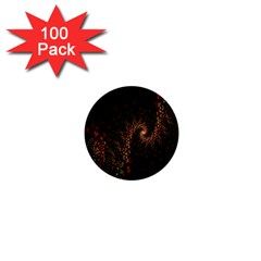 Multicolor Fractals Digital Art Design 1  Mini Buttons (100 pack)