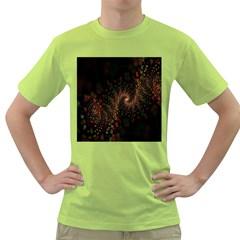 Multicolor Fractals Digital Art Design Green T-Shirt