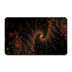 Multicolor Fractals Digital Art Design Magnet (Rectangular)