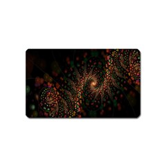 Multicolor Fractals Digital Art Design Magnet (Name Card)