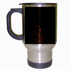 Multicolor Fractals Digital Art Design Travel Mug (Silver Gray)