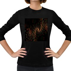 Multicolor Fractals Digital Art Design Women s Long Sleeve Dark T-Shirts