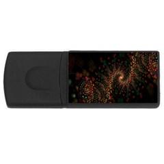 Multicolor Fractals Digital Art Design USB Flash Drive Rectangular (4 GB)