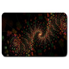 Multicolor Fractals Digital Art Design Large Doormat