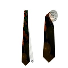 Multicolor Fractals Digital Art Design Neckties (Two Side)