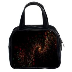Multicolor Fractals Digital Art Design Classic Handbags (2 Sides)