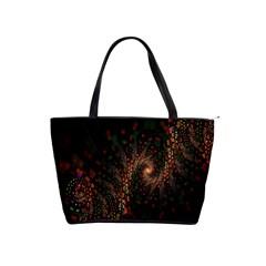 Multicolor Fractals Digital Art Design Shoulder Handbags