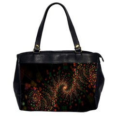 Multicolor Fractals Digital Art Design Office Handbags (2 Sides)