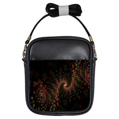 Multicolor Fractals Digital Art Design Girls Sling Bags